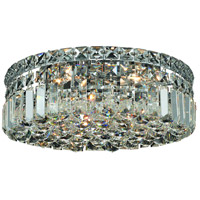 Elegant Lighting Maxim 4 Light Flush Mount in Chrome with Elegant Cut Clear Crystal 2030F14C/EC