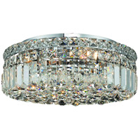 Elegant Lighting Maxim 5 Light Flush Mount in Chrome with Swarovski Strass Clear Crystal 2030F16C/SS