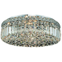Elegant Lighting Maxim 6 Light Flush Mount in Chrome with Elegant Cut Clear Crystal 2030F20C/EC