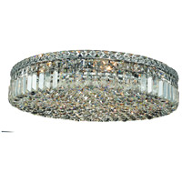 Maxim 9 Light 24 inch Chrome Flush Mount Ceiling Light in Royal Cut