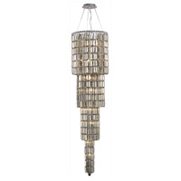 Elegant Lighting Maxim 18 Light Foyer in Chrome with Swarovski Strass Golden Teak Crystal 2030G66C-GT/SS