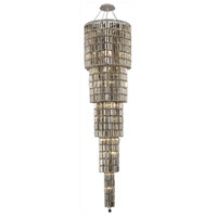 Elegant Lighting Maxim 22 Light Foyer in Chrome with Swarovski Strass Golden Teak Crystal 2030G80C-GT/SS