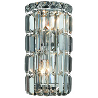 Elegant Lighting Maxim 2 Light Wall Sconce in Chrome with Swarovski Strass Clear Crystal 2030W6C/SS