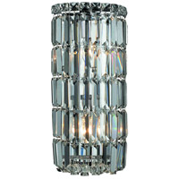 Elegant Lighting Maxim 2 Light Wall Sconce in Chrome with Elegant Cut Clear Crystal 2030W8C/EC