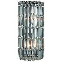 Elegant Lighting V2030W8C/RC Maxime 2 Light 8 inch Chrome Wall Sconce Wall Light in Royal Cut