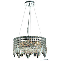 Elegant Lighting Maxim 12 Light Dining Chandelier in Chrome with Swarovski Strass Clear Crystal 2031D20C/SS