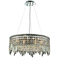 Elegant Lighting Maxim 12 Light Dining Chandelier in Chrome with Swarovski Strass Clear Crystal 2031D24C/SS alternative photo thumbnail