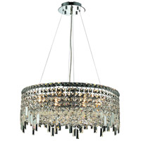 Elegant Lighting Maxim 12 Light Dining Chandelier in Chrome with Swarovski Strass Clear Crystal 2031D24C/SS