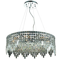 Elegant Lighting Maxim 12 Light Dining Chandelier in Chrome with Swarovski Strass Clear Crystal 2031D28C/SS