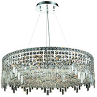 Elegant Lighting Maxim 18 Light Dining Chandelier in Chrome with Swarovski Strass Clear Crystal 2031D32C/SS