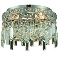 Elegant Lighting Maxim 4 Light Flush Mount in Chrome with Elegant Cut Clear Crystal 2031F12C/EC