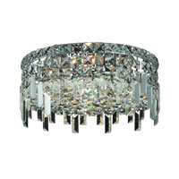 Elegant Lighting Maxim 4 Light Flush Mount in Chrome with Royal Cut Clear Crystal 2031F14C/RC alternative photo thumbnail