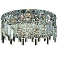 Elegant Lighting Maxim 4 Light Flush Mount in Chrome with Royal Cut Clear Crystal 2031F14C/RC