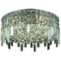Elegant Lighting Maxim 5 Light Flush Mount in Chrome with Elegant Cut Clear Crystal 2031F16C/EC