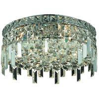 Elegant Lighting Maxim 5 Light Flush Mount in Chrome with Royal Cut Clear Crystal 2031F16C/RC photo thumbnail