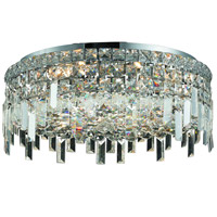 Elegant Lighting Maxim 6 Light Flush Mount in Chrome with Royal Cut Clear Crystal 2031F20C/RC