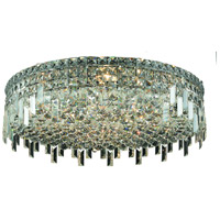 Elegant Lighting Maxim 9 Light Flush Mount in Chrome with Royal Cut Clear Crystal 2031F24C/RC