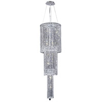 Elegant Lighting Maxim 12 Light Foyer in Chrome with Swarovski Strass Clear Crystal 2031G54C/SS