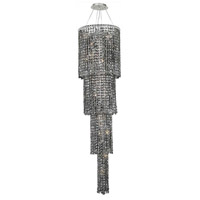 Elegant Lighting Maxim 18 Light Foyer in Chrome with Swarovski Strass Silver Shade Crystal 2031G66C-SS/SS