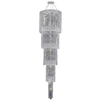 Elegant Lighting Maxim 22 Light Foyer in Chrome with Swarovski Strass Clear Crystal 2031G80C/SS