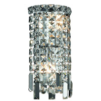 Elegant Lighting Maxim 2 Light Wall Sconce in Chrome with Elegant Cut Clear Crystal 2031W6C/EC
