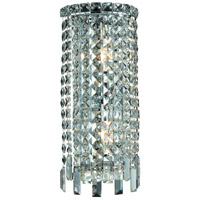 Elegant Lighting Maxim 2 Light Wall Sconce in Chrome with Elegant Cut Clear Crystal 2031W8C/EC