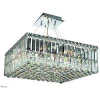 Elegant Lighting Maxim 12 Light Dining Chandelier in Chrome with Swarovski Strass Clear Crystal 2032D20C/SS