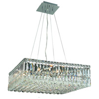 Elegant Lighting Maxim 12 Light Dining Chandelier in Chrome with Royal Cut Clear Crystal 2032D24C/RC