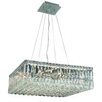 Elegant Lighting V2032D24C/RC Maxime 12 Light 24 inch Chrome Dining Chandelier Ceiling Light in Royal Cut