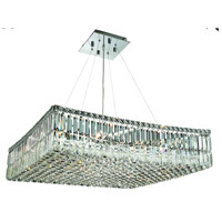 Elegant Lighting Maxim 12 Light Dining Chandelier in Chrome with Swarovski Strass Clear Crystal 2032D28C/SS