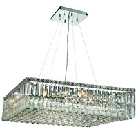 Elegant Lighting Maxim 12 Light Dining Chandelier in Chrome with Swarovski Strass Clear Crystal 2032D32C/SS