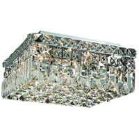 Maxim 4 Light 12 inch Chrome Flush Mount Ceiling Light in Royal Cut