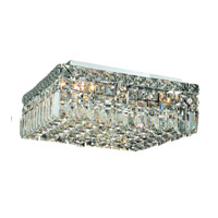 Elegant Lighting Maxim 5 Light Flush Mount in Chrome with Spectra Swarovski Clear Crystal 2032F14C/SA alternative photo thumbnail