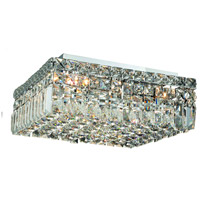 Elegant Lighting Maxim 5 Light Flush Mount in Chrome with Elegant Cut Clear Crystal 2032F14C/EC