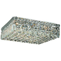 Elegant Lighting Maxim 6 Light Flush Mount in Chrome with Elegant Cut Clear Crystal 2032F16C/EC