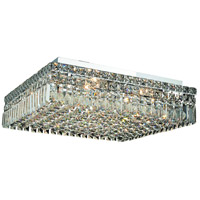 Elegant Lighting Maxim 12 Light Flush Mount in Chrome with Swarovski Strass Clear Crystal 2032F20C/SS