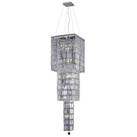 Elegant Lighting Maxim 14 Light Foyer in Chrome with Elegant Cut Clear Crystal 2032G54C/EC