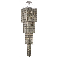 Elegant Lighting Maxim 18 Light Foyer in Chrome with Swarovski Strass Golden Teak Crystal 2032G66C-GT/SS