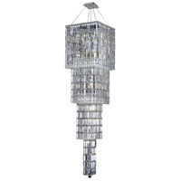 Elegant Lighting Maxim 18 Light Foyer in Chrome with Elegant Cut Clear Crystal 2032G66C/EC