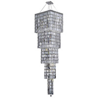 Elegant Lighting Maxim 22 Light Foyer in Chrome with Elegant Cut Clear Crystal 2032G80C/EC