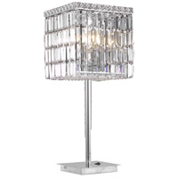 Elegant Lighting Maxim 3 Light Table Lamp in Chrome with Swarovski Strass Clear Crystal 2032TL11C/SS