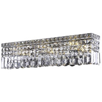 Elegant Lighting Maxim 4 Light Vanity in Chrome with Swarovski Strass Clear Crystal 2032W18C/SS