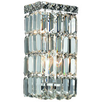 Elegant Lighting Maxim 2 Light Wall Sconce in Chrome with Swarovski Strass Clear Crystal 2032W6C/SS