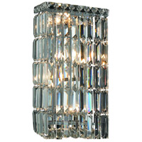 Elegant Lighting Maxim 4 Light Wall Sconce in Chrome with Swarovski Strass Clear Crystal 2032W8C/SS