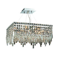 Elegant Lighting Maxim 12 Light Dining Chandelier in Chrome with Swarovski Strass Clear Crystal 2033D20C/SS alternative photo thumbnail