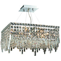 Elegant Lighting Maxim 12 Light Dining Chandelier in Chrome with Swarovski Strass Clear Crystal 2033D20C/SS