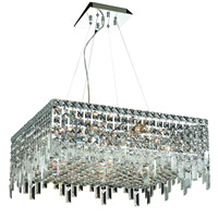 Elegant Lighting Maxim 12 Light Dining Chandelier in Chrome with Swarovski Strass Clear Crystal 2033D24C/SS