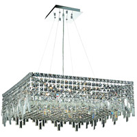 Elegant Lighting Maxim 12 Light Dining Chandelier in Chrome with Swarovski Strass Clear Crystal 2033D28C/SS
