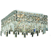 Elegant Lighting Maxim 4 Light Flush Mount in Chrome with Swarovski Strass Clear Crystal 2033F12C/SS
