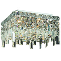 Elegant Lighting Maxim 5 Light Flush Mount in Chrome with Swarovski Strass Clear Crystal 2033F14C/SS
